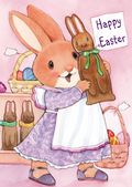Easter Card-Girl Bunny